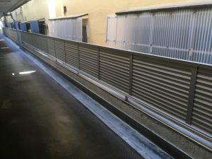 八尾市マンション ブロック塀解体 目隠しフェンス工事